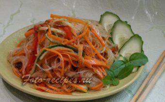 Фунчоза с овощами по коройски