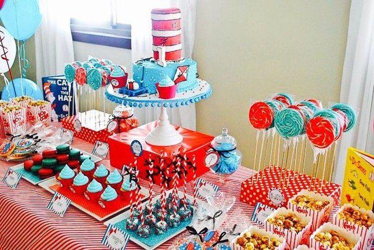 как украсить стол на день рождения ребенка 1 год