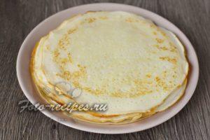 Тонкие блины на кефире без яиц
