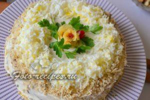 Печеночно блинный торт