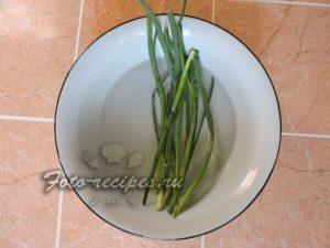 зеленый лук размочить