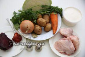 продукты для борща с курицей