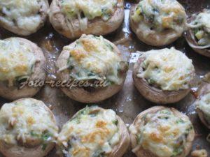 запечь грибы в духовке