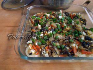 Разложите овощи