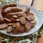 Домашняя колбаса из свинины и говядины