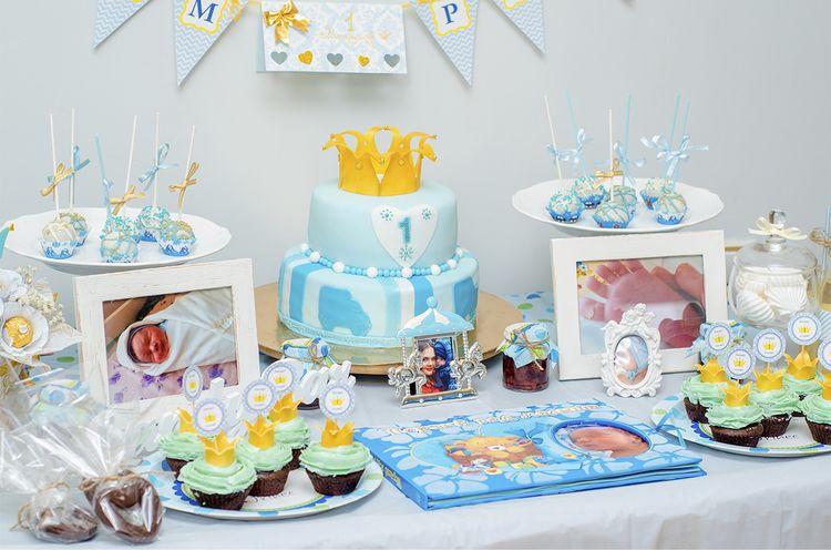Украсить стол на день рождение 1 год