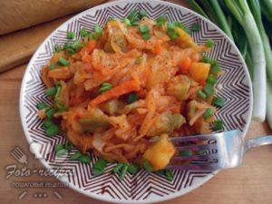 овощное рагу: кабачки, картошка, капуста
