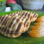 Двухцветное песочное печенье с какао