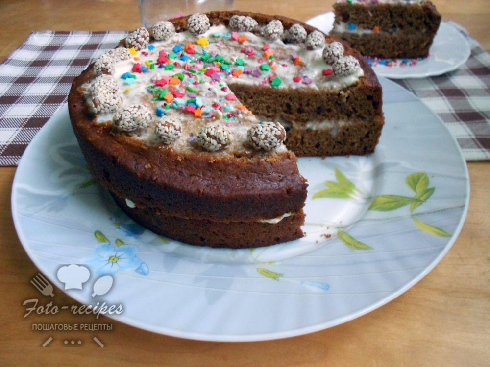 чайный пирог из заварки и варенья