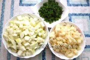 кабачок и картошка