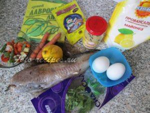 Продукты для заливной рыбы