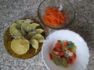 Овощи для оформления заливного