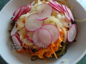 редис в салате