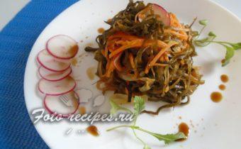 Салат из замороженной морской капусты