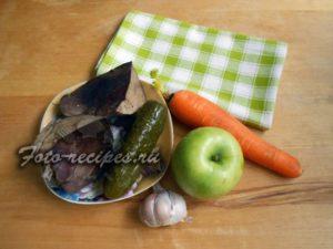 Продукты для салата из печени