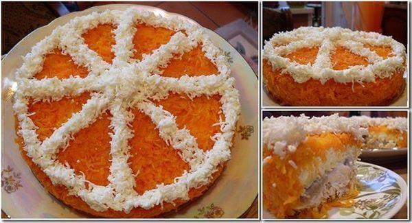 салат апельсинка