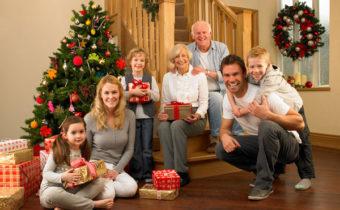 Новый год дома с семьей