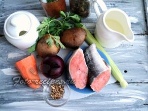 набор продуктов для супа из горбуши