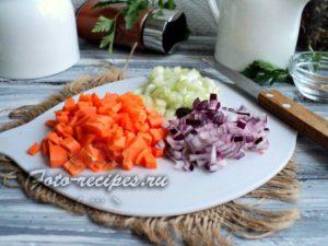 Оставшиеся овощи измельчите