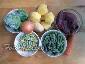набор продуктов для супа
