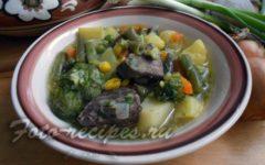 Готовый суп из печени