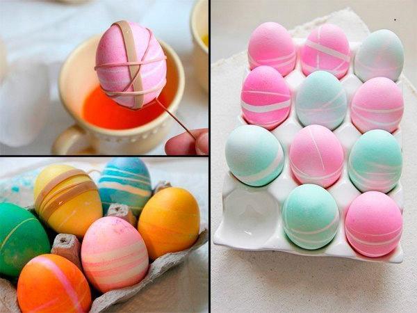 Покрасить яйца пищевыми красителями