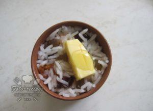 добавить масло и мед