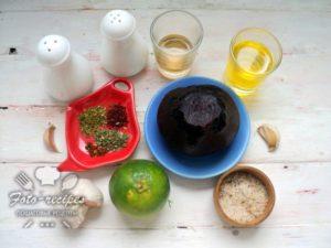 продукты для маринования свеклы