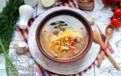 быстрый суп с копченой грудинкой