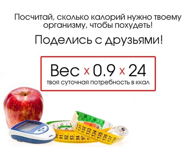 Сколько употреблять калорий в день для похудения