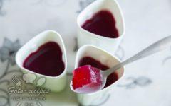 низкокалорийное ягодное желе с желатином