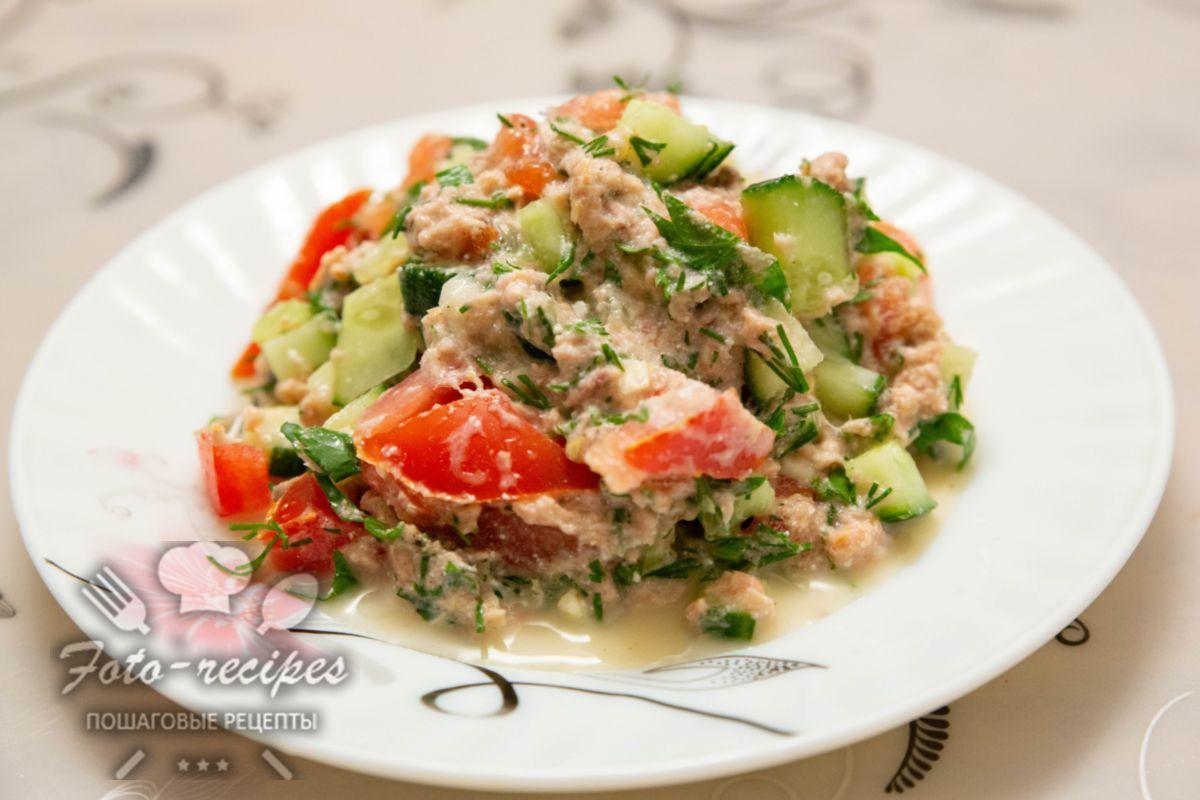 ПП салат с консервированным тунцом