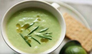 суп пюре из зеленой гречки с авокадо