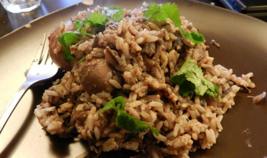 печень с бурым рисом