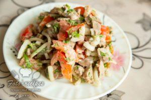 диетический салат с печенью