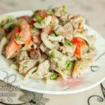 пп салат с куриной печенью