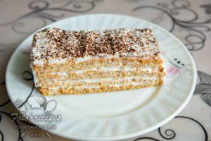 низкокалорийный торт с творожным кремом