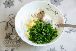 творожный соус с чесноком и зеленью