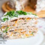 торт из куриной печени с морковью и луком