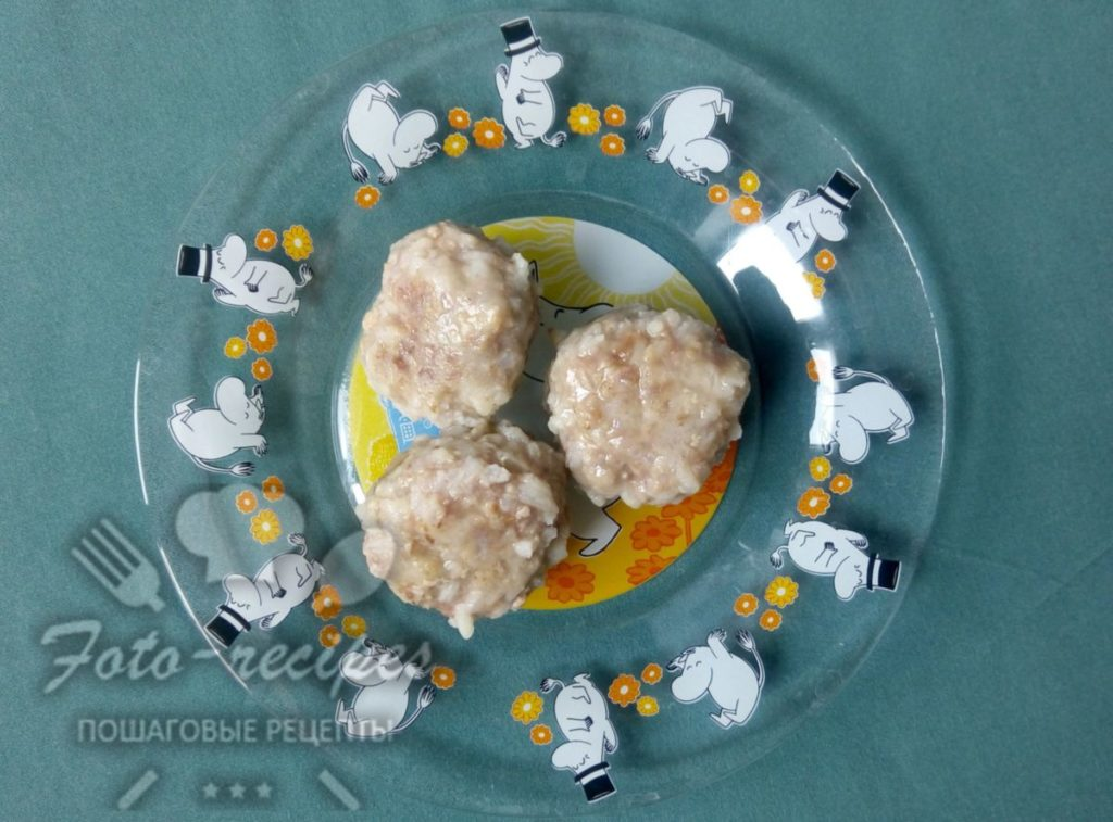 детские тефтели с рисом